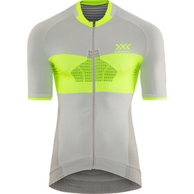 X-Bionic Invent 4.0 Bike Race Zip Jersey SH SL Herren dolomite grey/phyton yellow